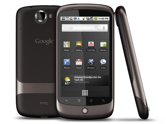 Nexus One, com Android 2.1 Eclair, lançado em 2010 (Foto: Divulgação)