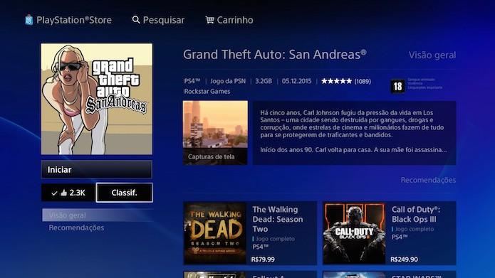 Como baixar e instalar jogos de PlayStation 2 no PlayStation 4 (Foto: Reprodução/Victor Teixeira)