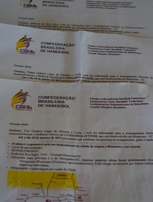 Atletas acreanos convocados para acampamento da seleção de Handebol, convocação (Foto: João Paulo Maia)