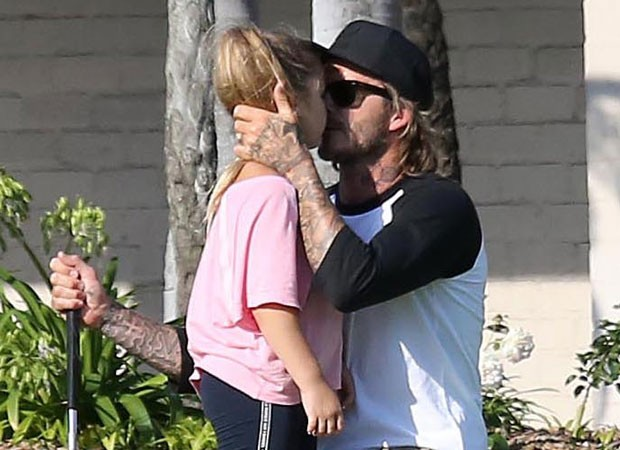 David Beckham e Harper (Foto: The Grosby Group)