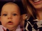 Filha de Fernando Scherer compartilha vídeo fofo da irmã