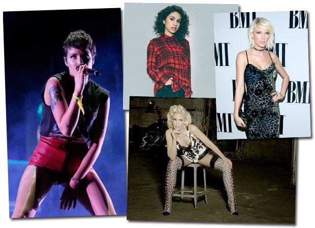 Nomes das princesas do pop reunidas na playlist da Radio Ibiza (Foto: Getty Images e Divulgação)
