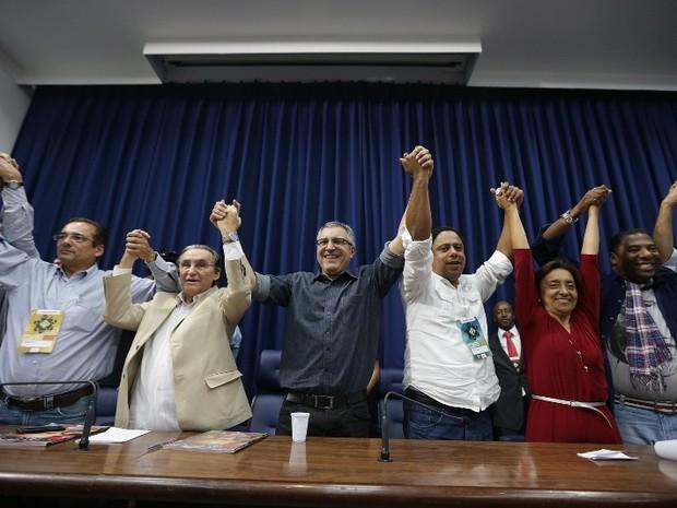 PC do B oficializa apoio a Padilha em convenção neste sábado (4) (Foto: Paulo Pinto/G1)