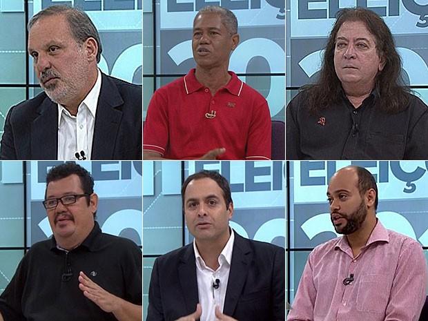 Seis candidatos disputam o governo de Pernambuco na eleição deste ano (Foto: Montagem / G1)