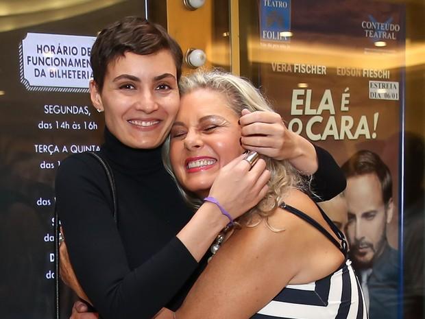 Rafaela Fischer e Vera Fischer em peça em São Paulo (Foto: Manuela Scarpa/ Brazil News)