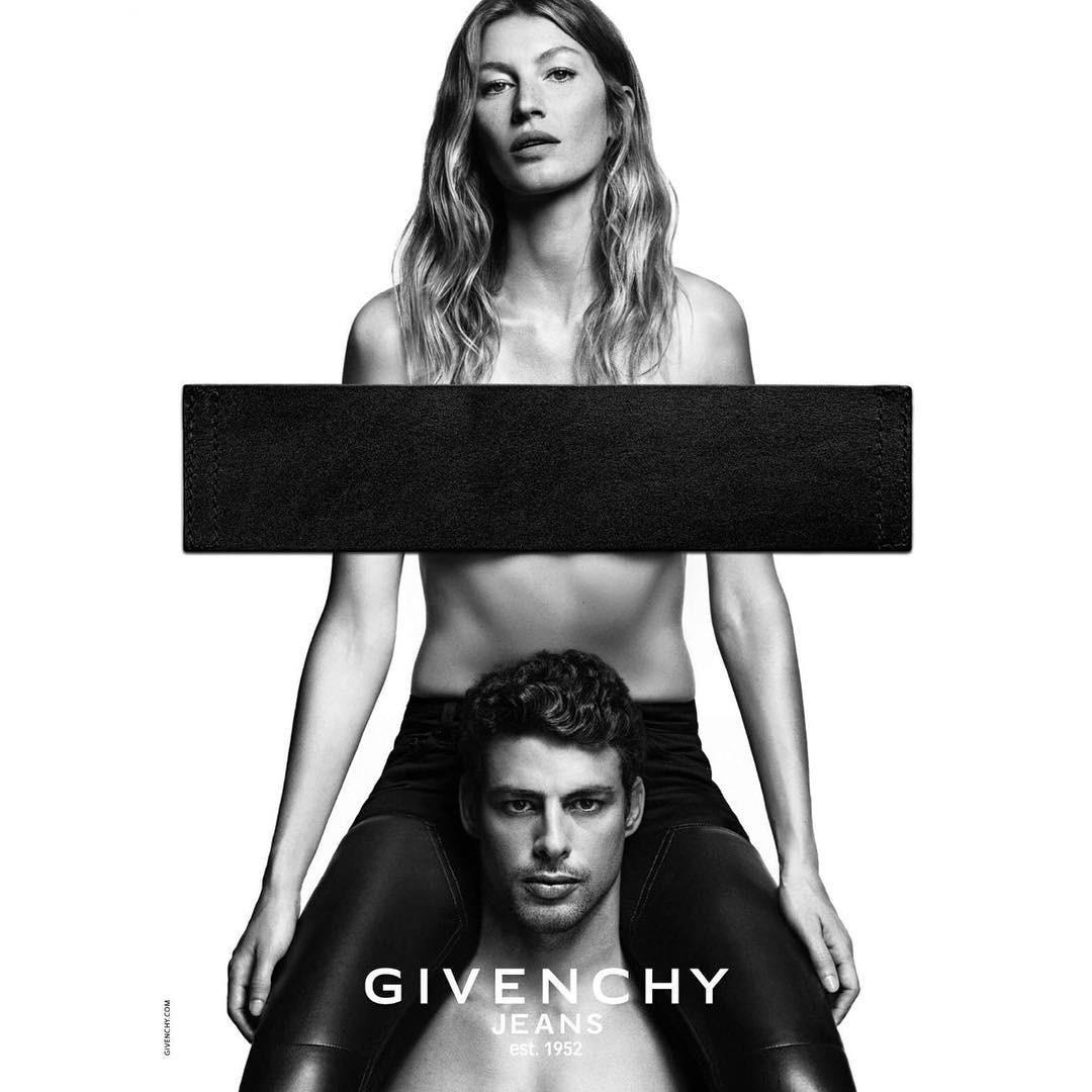 Gisele e Cauã juntos na campanha da Givenchy (Foto: Reprodução/Instagram)