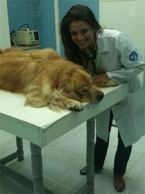 Renata Del Bianco atualmente cursa a faculdade de veterinária (Foto: Arquivo pessoal)