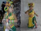 Pais mostram os filhos brincando o carnaval em vários pontos do Brasil