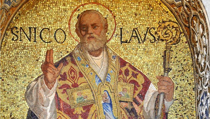 Painel retrata São Nicolau (Foto: Reprodução)