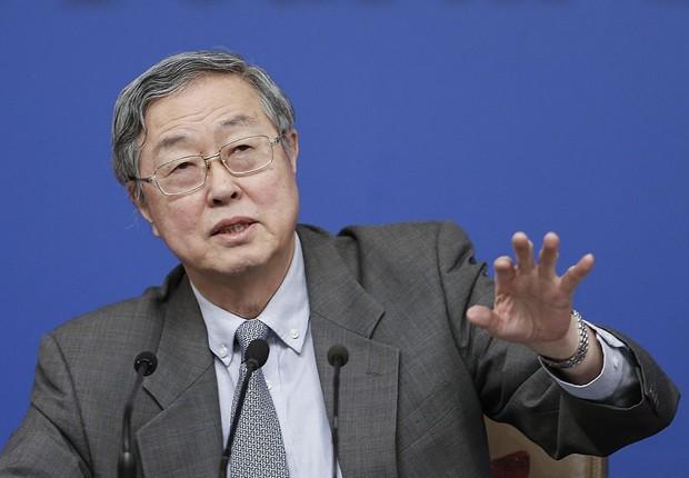 Zhou Xiaochuan, presidente do Banco Central da China (Foto: Lintao Zhang/Getty Images)