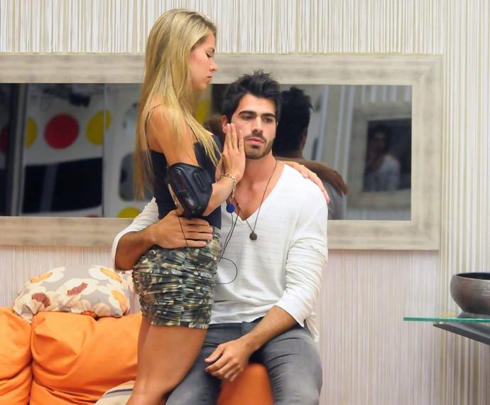 Adriana e Rodrigão começaram o relacionamento dentro do BBB11 (Foto: TV Globo / Frederico Rozário)