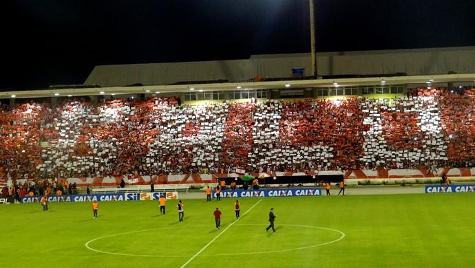 CRB torcida mosaico (Foto: Viviane Leão/GloboEsporte.com)