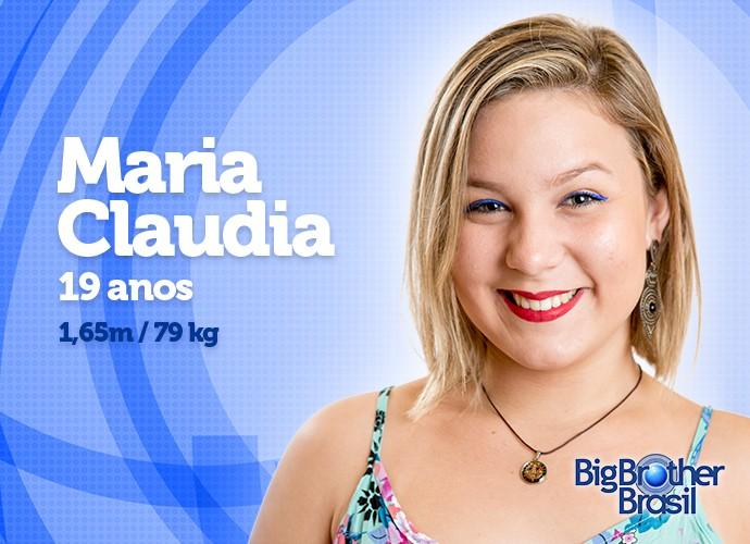 A jovem Maria Claudia entra na casa com um belo sorriso e 79 kg (Foto: Daniel Chevraud/Gshow)