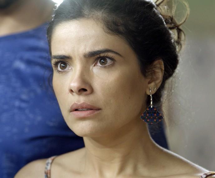 Tóia fica perplexa diante das acusações (Foto: TV Globo)