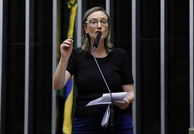 A deputada Maria do Rosário em discurso na Câmara  (Foto: Alex Ferreira / Câmara dos Deputados)
