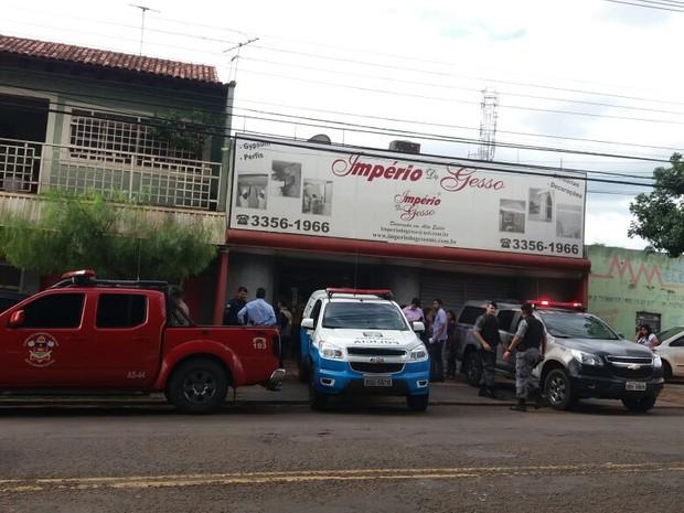 Crime foi na avenida Mascarenhas de Moraes, em Campo Grande (Foto: Nathália Rabelo/ G1 MS)