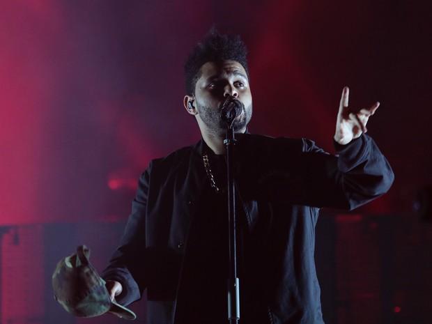 The Weeknd se apresenta no Lollapalooza em São Paulo (Foto: Rafael Cusato/ EGO)