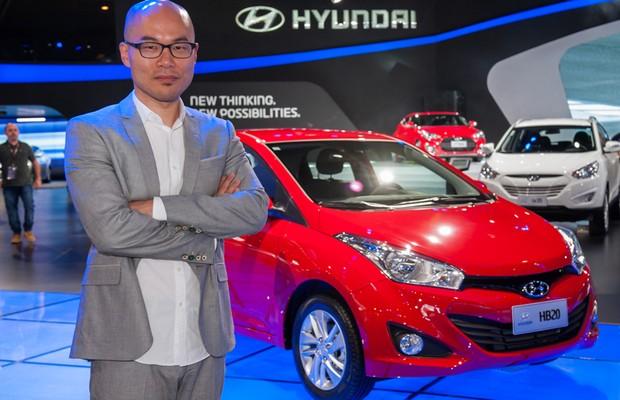 Casei Hyun e sua criação, o hatch HB20 (Foto: E. Danessi / WM )