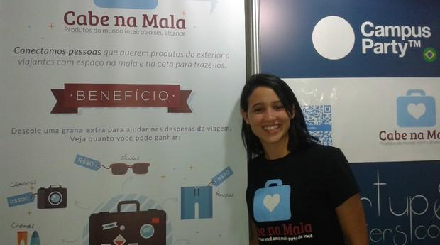 Ana Paula Lessa, da startup Cabe na Mala (Foto: Isabela Moreira)