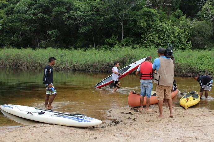 Bastidores Pantanal Marimbus (Foto: TV Bahia)
