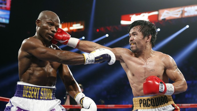 Manny Pacquiao Timothy Bradley Las Vegas (Foto: AP / Isaac Brekken)