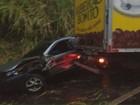 Microônibus com alunos se envolve em acidente em Ribeirão Bonito, SP