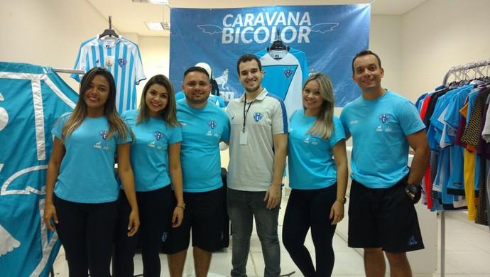 Caravana Bicolor está em Santarém desde o sábado (8) (Foto: Divulgação/Ascom/Paysandu Sport Club)