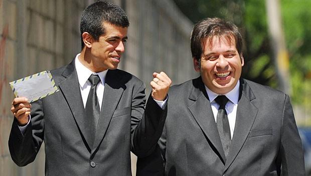 Na Sessão Comédia de sábado, dia 24, Pedrão pede para Jorginho passar uns recados (Foto: CEDOC Globo)