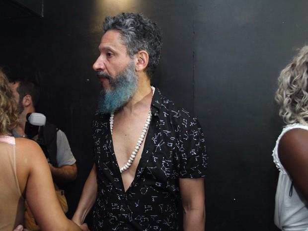 Ex-BBB Laércio em festa na Zona Oeste do Rio (Foto: Anderson Borde/ Ag. News)