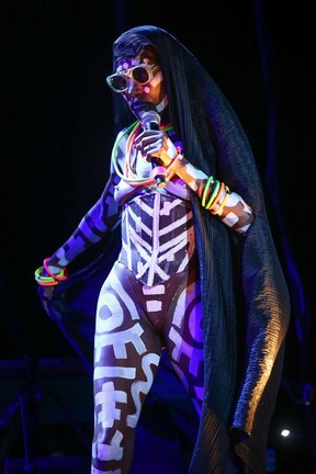 Grace Jones em show em São Paulo (Foto: Manuela Scarpa/ Brazil News)