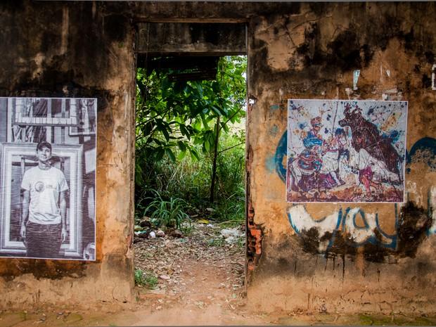 Intervenção no bairro Seis de Agosto, nesta terça-feira (Foto: Talita Oliveira / Arquivo Pessoal)