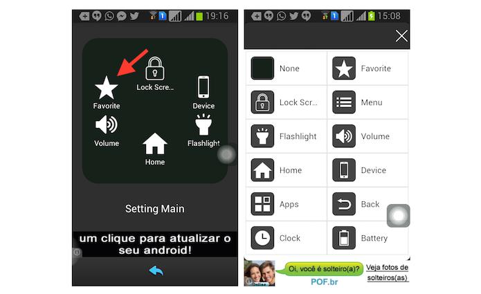 Configurando as opções do Assistive Touch para Android (Foto: Reprodução/Marvin Costa)