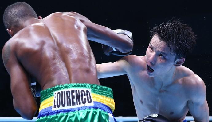 Patrick em ação pela Pro Aiba Boxing (Foto: Divulgação/Aiba)