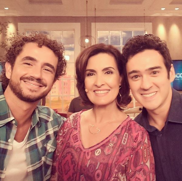 Felipe Andreoli, Fátima Bernardes e Marcos Veras (Foto: Instagram/Reprodução)