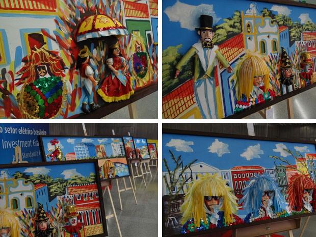 Telas em 3D ressaltam a beleza do Carnaval de Pernambuco (Foto: Priscila Miranda / G1)