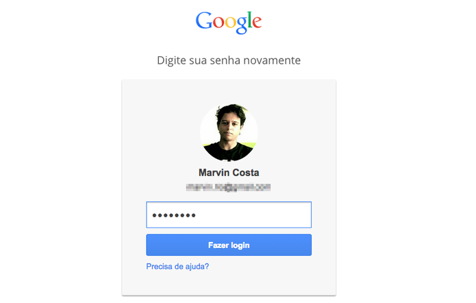 Realizando login no Google Dashboard para verificar o IMEI de um aparelho Android (Foto: Reprodução/Marvin Costa) (Foto: Realizando login no Google Dashboard para verificar o IMEI de um aparelho Android (Foto: Reprodução/Marvin Costa))