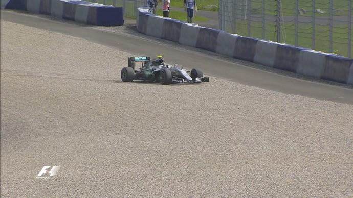 Nico Rosberg passeou na brita no 1º treino livre para GP da Áustria (Foto: Divulgação)