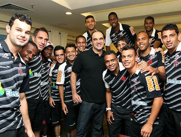 Ricardo Gomes visita o elenco do Vasco (Foto: Marcelo Sadio / Site Oficial do Vasco da Gama)