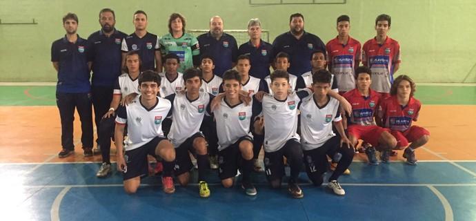 Equipe do Vila Velha Futsal, que vai até Roraima para a disputa da Taça Brasil sub-17 (Foto: Divulgação/Vila Velha Futsal)