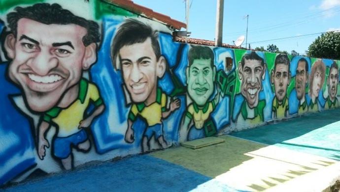 Rua virou atração na região (Foto: Camila Torres/Inter TV Cabugi)