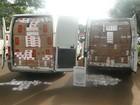 Polícia Militar do Paraná encontra vans com 250 caixas de cigarros