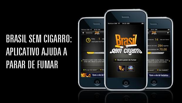 Aplicativo Brasil sem Cigarro ajuda a parar de fumar (Foto: Rede Globo)