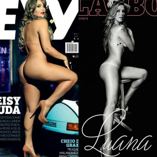 As capas de Geisy Arruda e de Luana Piovani (Foto: Divulgação)