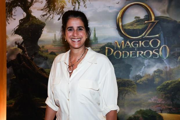 Lúcia Veríssimo em pré-estreia de filme em São Paulo (Foto: Manuela Scarpa/ Foto Rio News)