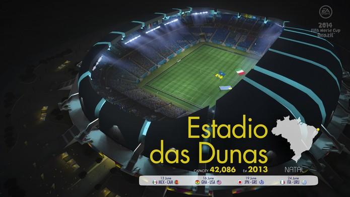Estádio das Dunas em Copa do Mundo Fifa 2014 (Foto: Divulgação)