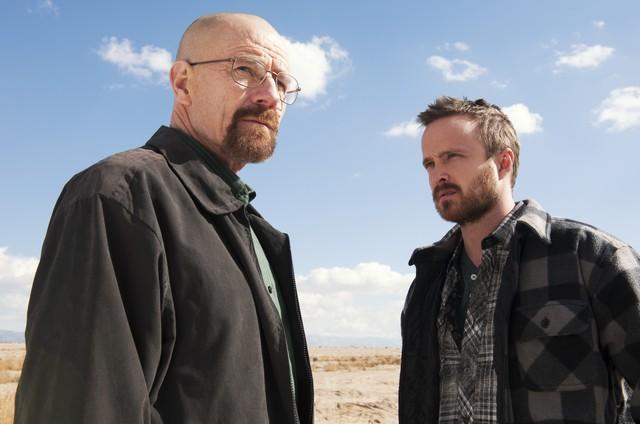 As aventuras de Mr.White (Bryan Cranston) e Jesse (Aaron Paul) em 'Breaking bad' aparece entre os programas favoritos do ator (Foto: AP Photo)