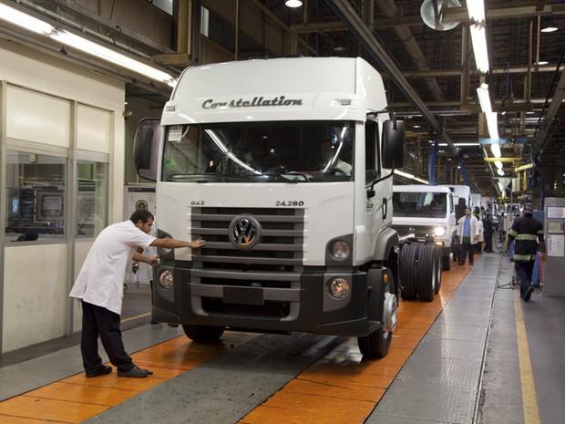 Volkswagen Caminhões anuncia investimento no Brasil (Foto: Divulgação / Intermot)