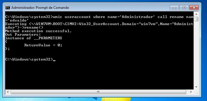 Mudando o nome da conta de administrador do Windows no Prompt (Foto: Reprodução/Edivaldo Brito)