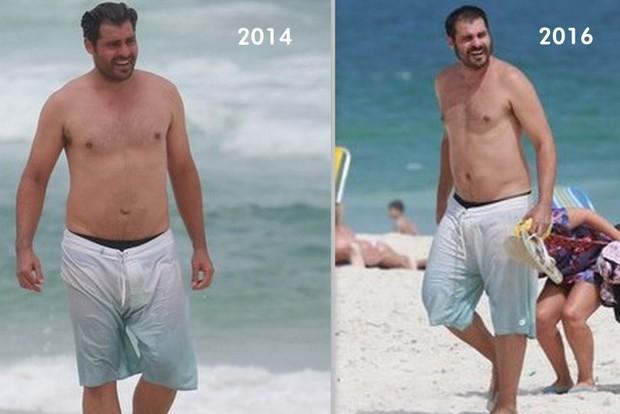 Thiago Lacerda: mudanças no corpo entre os anos de 2014 e 2016 (Foto: Ag News)