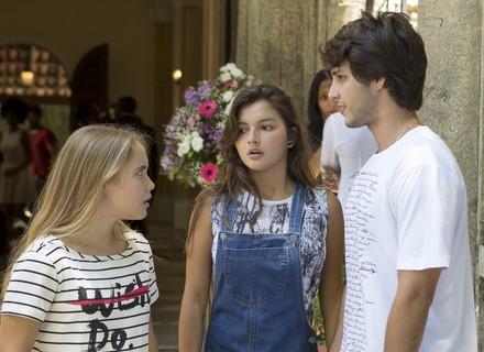 Lucas convida Luíza para ser madrinha do seu filho